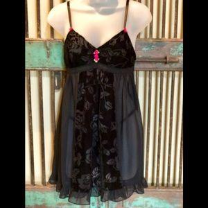 NWOT Betsy Johnson sz M nightie set lingerie